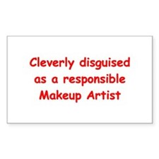 Makeup Artist Rectangle Sticker 10 pk)