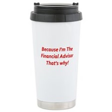 Financial Advisor Ceramic Travel Mug
