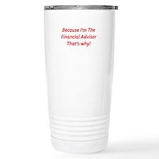 Financial Advisor Travel Mug