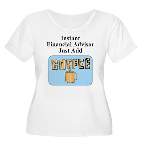 Financial Advisor Women's Plus Size Scoop Neck T-S