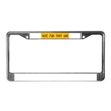 Palin License Plate Frame