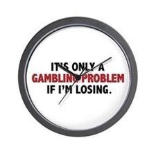 """Gambling Problem"" Wall Clock"