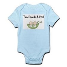 Two Peas In A Pod Twins Infant Bodysuit