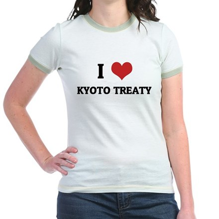 I Love Kyoto Treaty Jr. Ringer T-Shirt