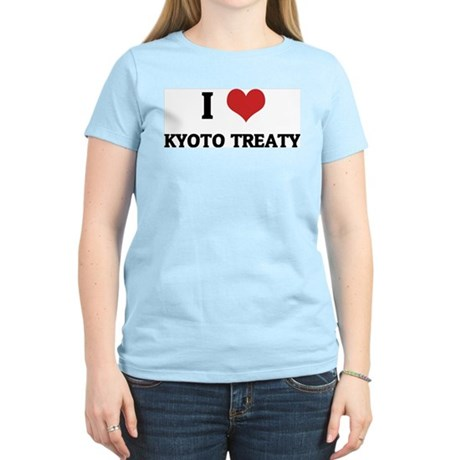 I Love Kyoto Treaty Women's Pink T-Shirt
