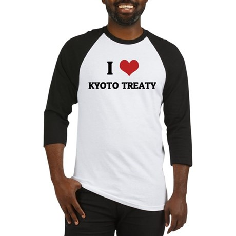 I Love Kyoto Treaty Baseball Jersey