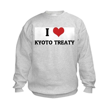 I Love Kyoto Treaty Kids Sweatshirt