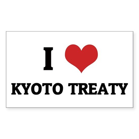I Love Kyoto Treaty Rectangle Sticker