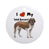 I Love My Saint Bernard Ornament (Round)