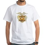 Police Sergeant Badge White T-Shirt
