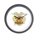 Police Sergeant Badge Wall Clock