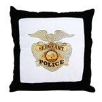 Police Sergeant Badge Throw Pillow