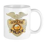 Police Sergeant Badge Mug