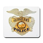 Police Sergeant Badge Mousepad
