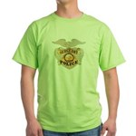 Police Sergeant Badge Green T-Shirt