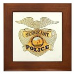 Police Sergeant Badge Framed Tile
