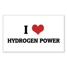 I Love Hydrogen Power Rectangle Decal