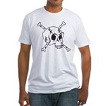 skull crossbones Fitted T-Shirt