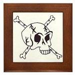 skull crossbones Framed Tile