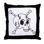 skull crossbones Throw Pillow