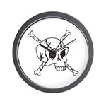 skull crossbones Wall Clock
