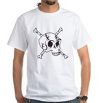 skull crossbones White T-Shirt