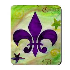 Purple Fleur de lis Mousepad