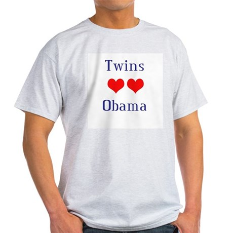 Twins Love Obama Light T-Shirt