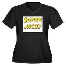 Super jacey Women's Plus Size V-Neck Dark T-Shirt