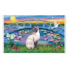 Lilies(JF)/Siamese Cat 24 ( Rectangle Sticker 50