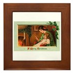Mother & Child Framed Tile