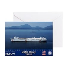USNS Mercy T-AH-19 Greeting Cards (Pk of 10)