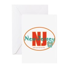 Cute North jersey Greeting Cards (Pk of 10)