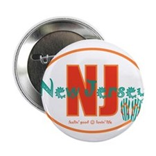 "Unique North jersey 2.25"" Button"