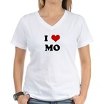 I Love MO Women's V-Neck T-Shirt
