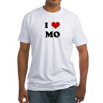 I Love MO Fitted T-Shirt