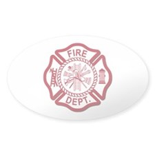 Fire Dept Oval Sticker (50 pk)
