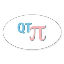 QT Pi (Cutie Pie) Oval Decal