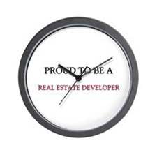 Proud to be a Real Estate Developer Wall Clock