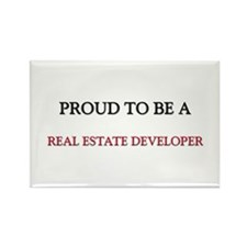 Proud to be a Real Estate Developer Rectangle Magn