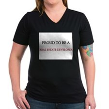 Proud to be a Real Estate Developer Women's V-Neck