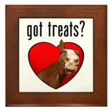 Got Treats? Cute Horse Framed Tile