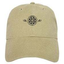 Baseball Cap in khaki or white with St. Benedict Medal