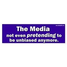 the media not even pretending to be unbiased anymo