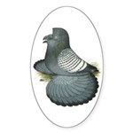 English Trumpeter Spangle Oval Sticker (50 pk)