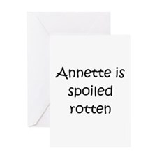 Cute Annette Greeting Card