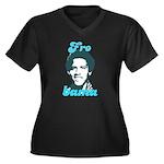 FROBAMA Women's Plus Size V-Neck Dark T-Shirt