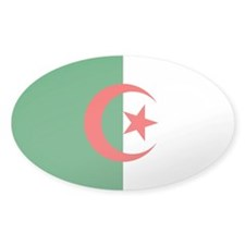 Flag of Algeria Oval Sticker (10 pk)