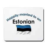 Happily Married Estonian 2 Mousepad