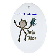 Banjo Dance Oval Ornament